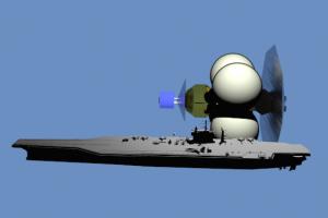 Corvette compared to USS Saratoga